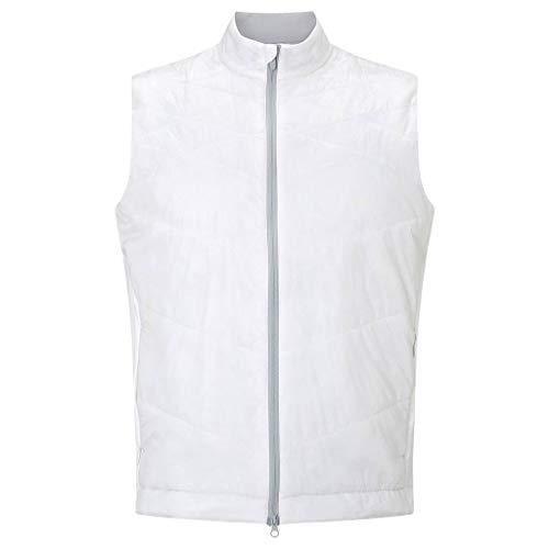 Callaway Golf 2018 Mens Full Zip Chev Thermal Puffer Vest Gilet Bright White ()