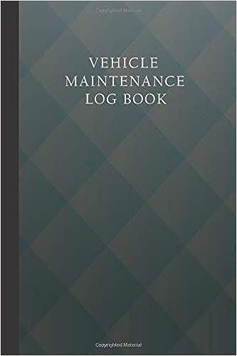 amazon com vehicle maintenance log book auto service log book