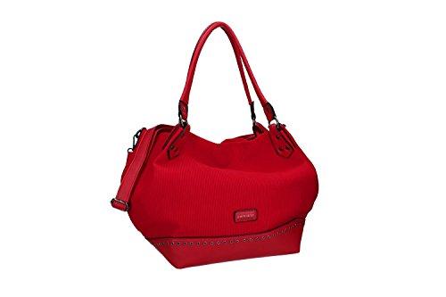 Borsa donna a spalla con tracolla PIERRE CARDIN rosso con apertura zip VN1838