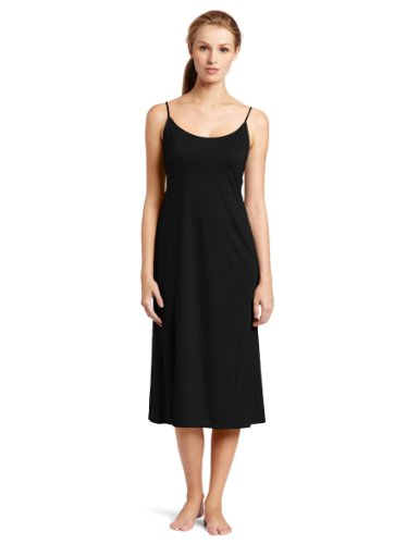 Natori Women's Shangri-La Nightgown, Black, Large