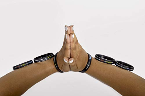 "Scripture Bracelets for Women and Men  (13-Pack) ""Power of Faith"" Wristbands by:Bel Amour Enterprise by Bel Amour Enterprise (Image #6)"