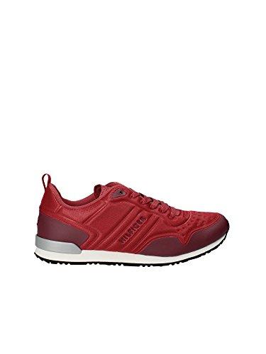 Runner Bleu Basses Nuit Rouge Hilfiger Homme Sneakers Tommy Iconic Neoprene 0U6tFB