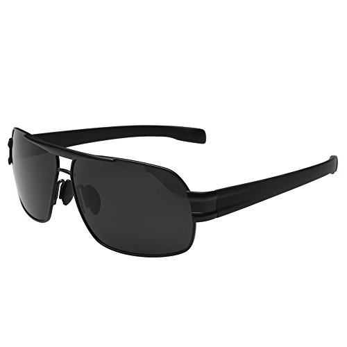 Joopin-Polarized Sunglasses Men Polaroid Driving Sun Glasses Mens Sunglass (Black Grey) (Steampunk Fashion Male)