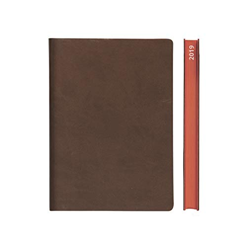 Moleskin Brown (2019 Daily Planner Calendar by Daycraft Signature - A5 Size Brown (D831N) - 8.25 x 5.88 in.)