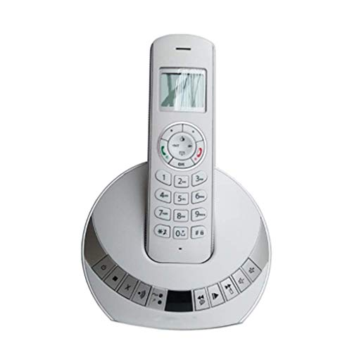 Gray Cordless Telephone - Telephone- New Caller ID Light Digital Cordless Phone Single Machine Home Office Phone Welcome (Color : Gray)