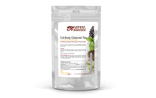 Full Body Cleanse Tea, Detox with Peppermint, Fenugreek, and Ginger (20 Bags) (The Best Full Body Cleanse)