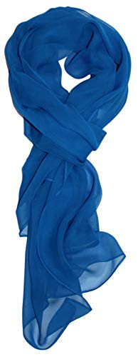 Ted and Jack - Solid Color Silk Blend Lightweight Accent Scarf (True Blue)