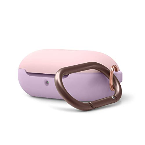 elago Upgraded Galaxy Buds Case - Added Top & Body Adhesive Gel Pad, Full Body Protection, Scratch/Shock Resistant, Supports Wireless Charging (Body-Lavender/Top-Lovely Pink)