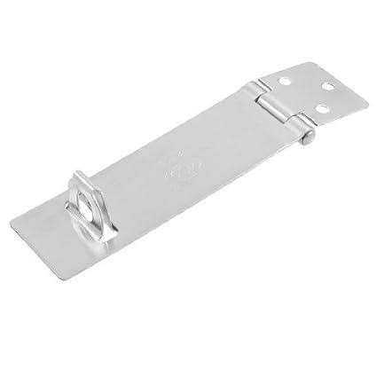 eDealMax Armario Puertas tono de plata del cerrojo del ...