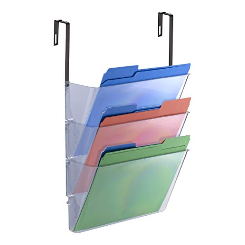 (Officemate Wall File, Letter Size with Hanger Set, Clear, Comes in 3 Pack (21446))