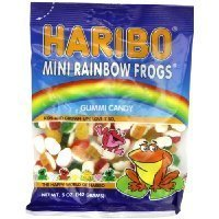 Haribo Gummi Candy, Mini Rainbow Frogs, 5 -Ounce Bags (Pack of 12) Thank you for using our service by GIP Super Market