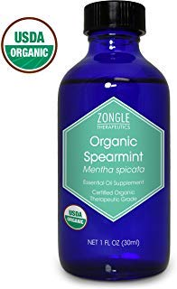Syrup Nutritional Information - Zongle USDA Certified Organic Spearmint Essential Oil, Safe to Ingest, Mentha Spicata, 1 oz