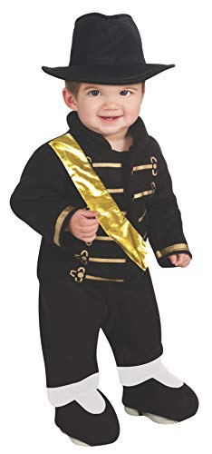 Michael Jackson Ez-On Romper Costume, Multicolor, Newborn]()