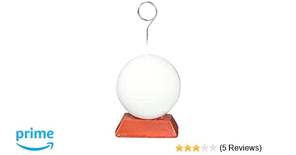 Beistle 50773 Volleyball Photo//Balloon Holder Party Supplies White//Brown