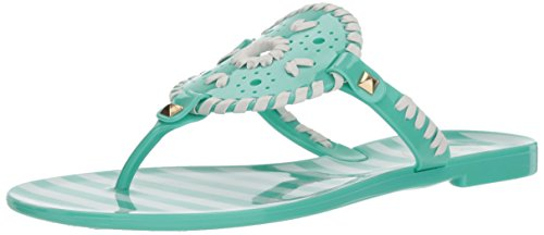 Sandal Rogers Flat Georgica Jack Jelly White Seafoam Striped Women's OqZzY