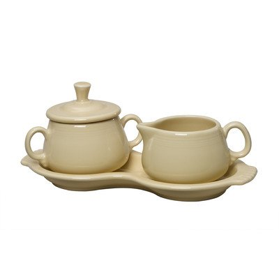 3 Piece Fiesta Sugar & Creamer Set Color: Ivory