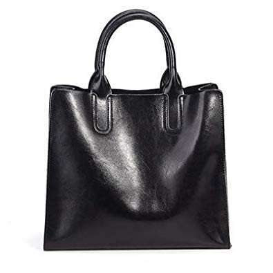 Bloomerang New Real Leather Handbags Ladies Women's Genuine Leather Tote Hand Bags Female Designer Shopper Shoulder Bags for Women color Black