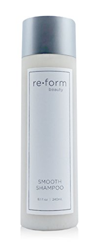 Reform Smooth Shampoo | Conditioning Agents for Curly, Thick, or Frizzy Hair | Color and Keratin Safe | UV and Heat Protection | Moisturizing & Hydrating Cleanser | Clean Ingredients | 8.1 fl oz - Color Enhancing Natural Shampoo Hair