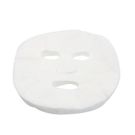Mintbon 50 Pcs Women Girls Lady White Cosmetic Makeup Enlarged Cotton Facial Mask Sheet for Ladies beauty