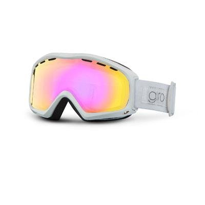 Giro Women's Siren Goggle (White Pearl Sans, Amber Pink 37), Outdoor Stuffs