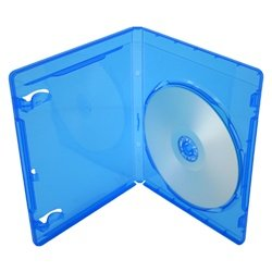 BRBR12BL-S - 12mm Standard Blu Ray Replacement Cases - Screenprint Logo - (100 Pack) - Blue Ray Covers