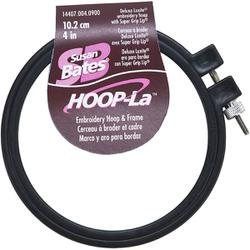 (Bulk Buy: Susan Bates (3-Pack) Hoop La Plastic Embroidery Hoop Black Size 4in. 14407B-4)