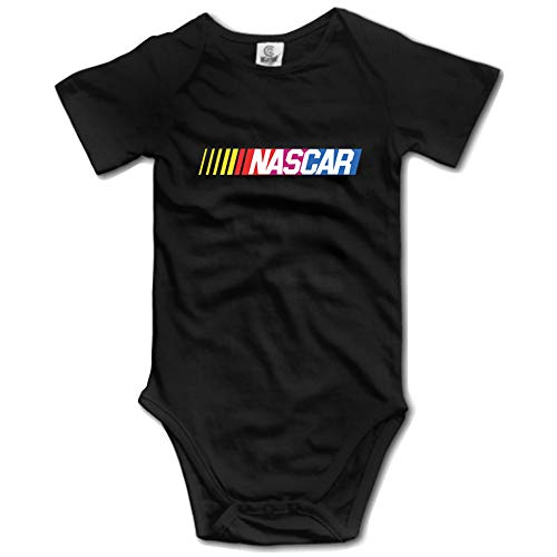 Luckyeus Infant Baby NASCAR Rompers One-Piece Baby Bodysuit Black ()