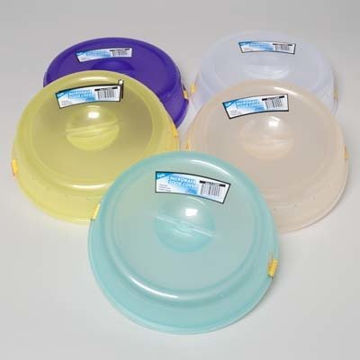 2pk 10u0026quot; Assorted Plastic Microwave Plate Cover Steam Vent Food ... & Amazon.com: 2pk 10