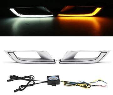 Amazon.com: 2 luces de circulación diurna LED DRL de doble ...