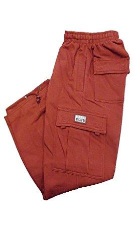 Pro Club Fleece Cargo Sweatpants 13.0oz 60/40 XL Burgundy