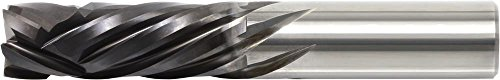 KYOCERA 1890-2500V1000 Series 1890 Standard Length Square End Mill, Carbide, CVD Diamond, 30 Degree Angle, 4 Flute, 1/4