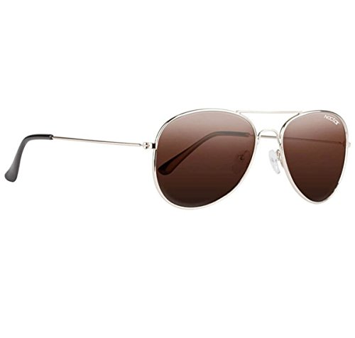 Nectar Classic Metal Aviator Sunglasses w/ Polarized Lenses & UV Protection (Gold Frame, Amber EuphoricHD Polarized - Are Of Lenses What Polarized Made