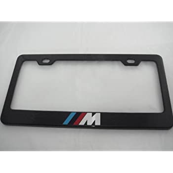 bmw license plate frame m style polished automotive. Black Bedroom Furniture Sets. Home Design Ideas
