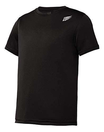 MI Falcon Boys' Top Performance T-Shirt Black Youth Medium (10-12)