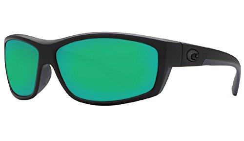 Costa Del Mar Saltbreak 580G Blackout/Green Mirror Polarized - Del Polarized Mar Saltbreak Sunglasses Costa