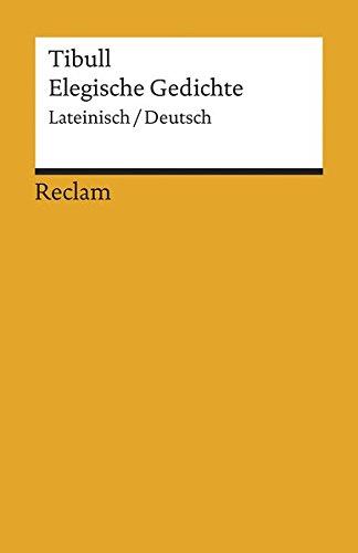 Elegische Gedichte Tibull Joachim Lilienweiß Arne