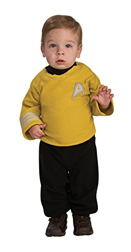Rubie's Star Trek Into Darkness Captain Kirk Romper, Gold/Black, Infant