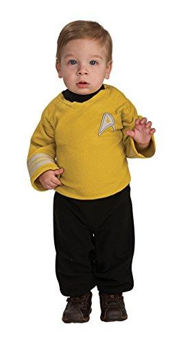Rubie's Star Trek Into Darkness Captain Kirk Romper, Gold/Black, -