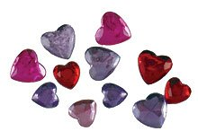 Hero Arts 36 Piece Sparkle Gem Hearts