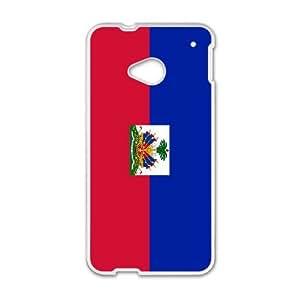 Haiti Flag HTC One M7 Cell Phone Case White E0577102