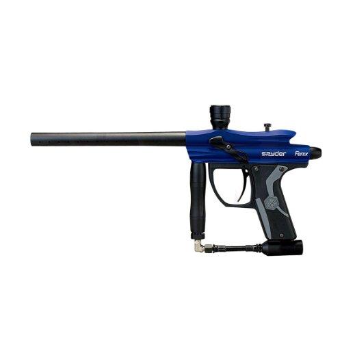 Spyder Fenix Electronic Paintball Marker Gun - Slate Blue Paintball Hopper Adapter