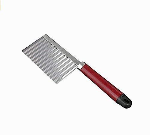 Ouken de Acero Inoxidable, plástico de la manija pelapapas Cuchillo Filo Ondulado Cocina Gadget Corte Herramientas Accesorios de Cocina