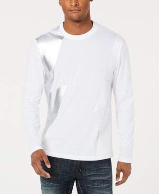 INC International Concepts Men's Long-Sleeve Lightning T-Shirt (White Pure, Small) from INC International Concepts
