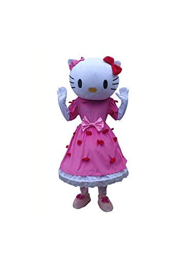 Hello Kitty Cat Adult Mascot Costume Cosplay Fancy Dress -