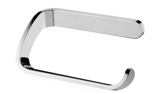 Bisk 04312 Natura Papierhalter ohne Deckel Verchromt, 13 x 7.5 x 5 cm