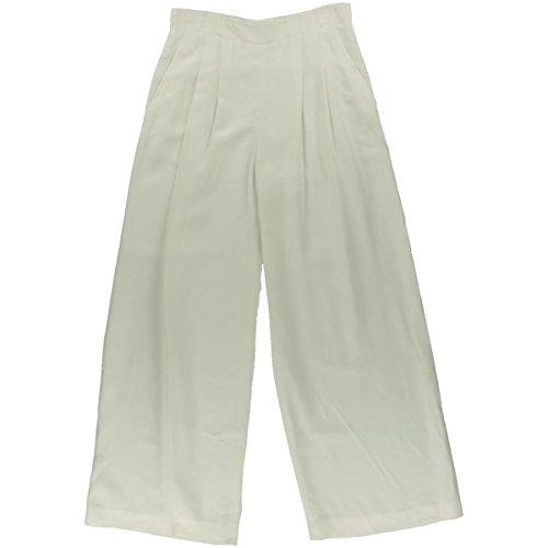 Lafayette 148 Womens Double Pleat Lined Dress Pants Ivory - Lined Pleats Trousers