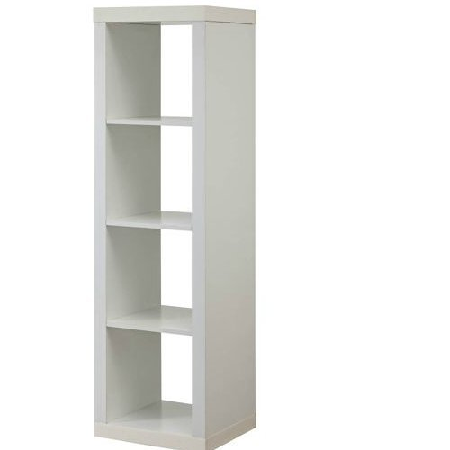 Better Homes and Gardens 4-Cube Organizer Storage Bookcase Bookshelf (4, White)