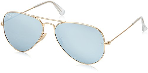 Ray-Ban-Large-Metal-Polarized-Aviator-Sunglasses-Matte-Gold-58-mm