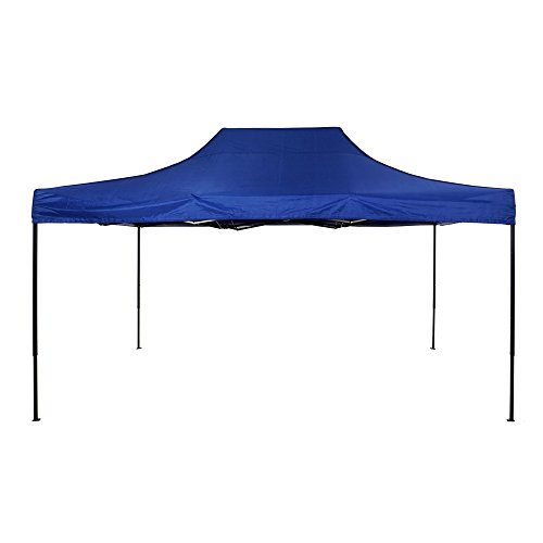 American Phoenix Canopy Tent 10x15 Outdoor Pop Up Easy Portable Instant Wedding Party Tent Event Commercial Fair Car Shelter Canopy (Blue, ()