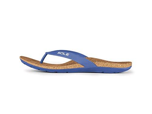 SOLE Beach Flips - Mens Arch Support Sandal Monaco - 9 ()